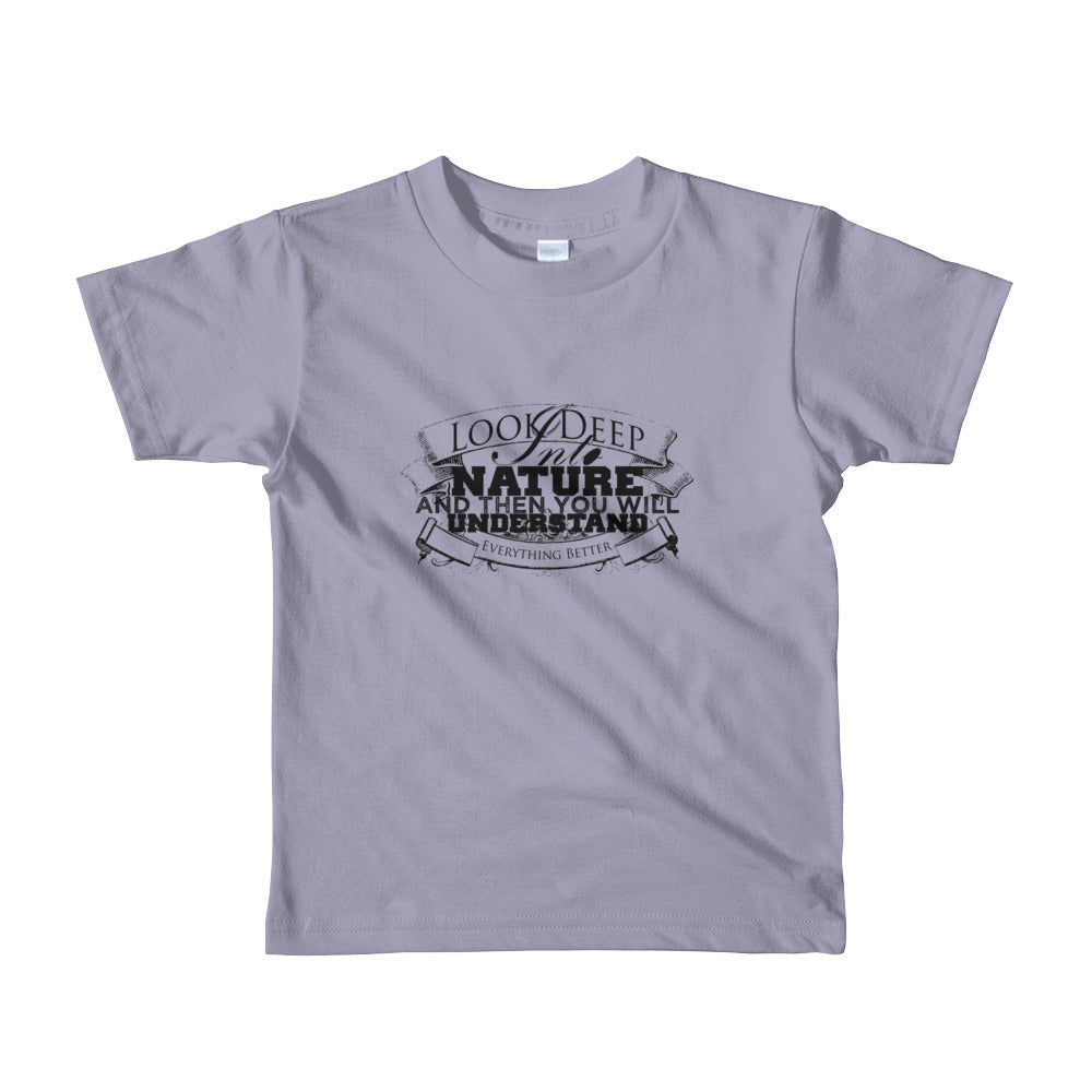 Deep into nature kids unisex short sleeve- Sustainability Collection