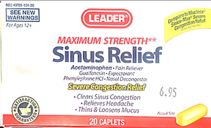 Leader Congestion Relief (10) coated tablets - MENCO MEDICAL SERVICES