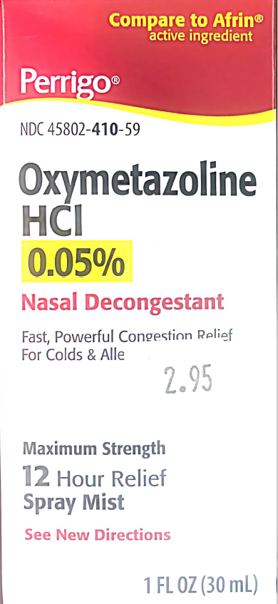 Oxymetazoline HCI 0.05% Nasal Descongestion 12 Hour - MENCO MEDICAL SERVICES