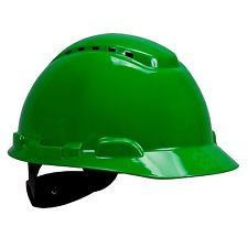 3M HARD HAT H-800 VENTED SERIES GREEN/VERDE - MENCO MEDICAL SERVICES