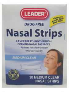 Leader Nasal Strips 4- Medium Clear (26) - MENCO MEDICAL SERVICES