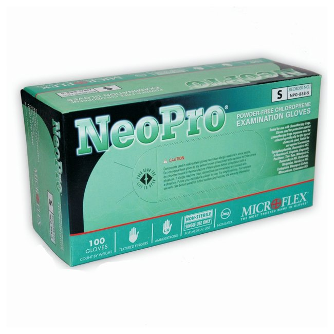 NeoPro Chloroprene Exam Gloves (100/Count) - MENCO MEDICAL SERVICES