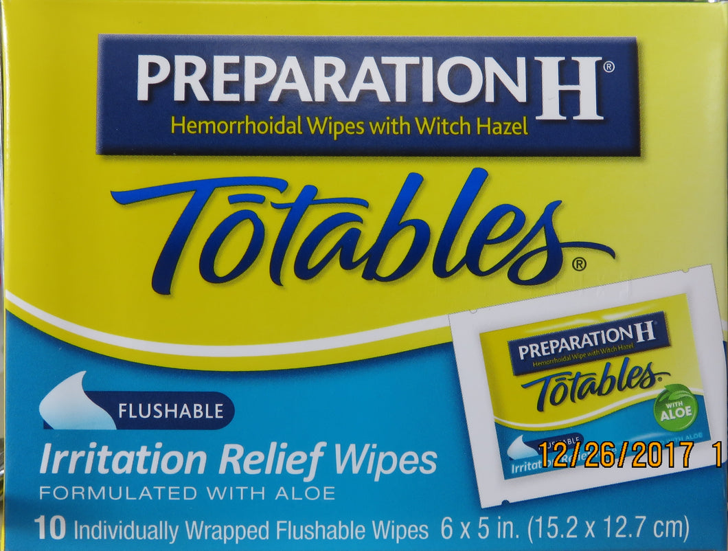 PREPARATION H TOTABLES WYETH - MENCO MEDICAL SERVICES