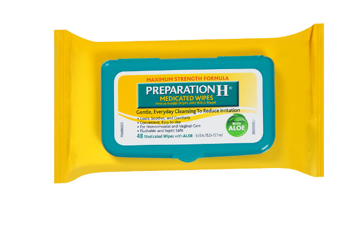 Preparation H Medicated Wipes 48ct - MENCO MEDICAL SERVICES