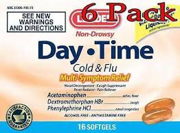 Leader (1 Pack) Day-time Cold & Flu Pe Softgels, 16ct - MENCO MEDICAL SERVICES