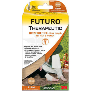Futuro Therapeutic Support Open Toe Knee Length for Men & Women Large Beige - MENCO MEDICAL SERVICES
