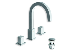 Quadri Series 3 Hole Lavatory Faucet w/ Pop Up Drain