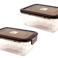 Wellslock 5.2 cups (Pack of 2) Locking Food Storage Containers with Lid - Wellslock