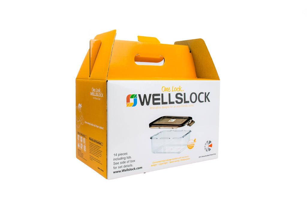 Wellslock 14 Piece Set Locking Food Storage Containers with Lid - Wellslock