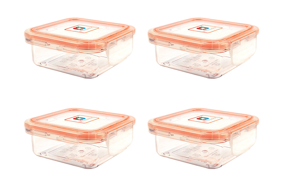 Wellslock 1.06 cups (Pack of 4) Locking Food Storage Containers with Lid - Wellslock