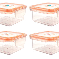 Wellslock 1.35 cups (Pack of 4) Locking Food Storage Containers with Lid - Wellslock