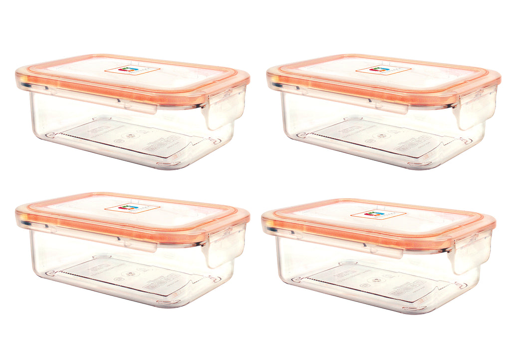Wellslock 2.12 cups (Pack of 4) Locking Food Storage Containers with Lid - Wellslock