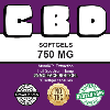 Purple Sticky Brand CBD 750 mg Full Spectrum Hemp Softgels Caps Capsules CBD Oil 30