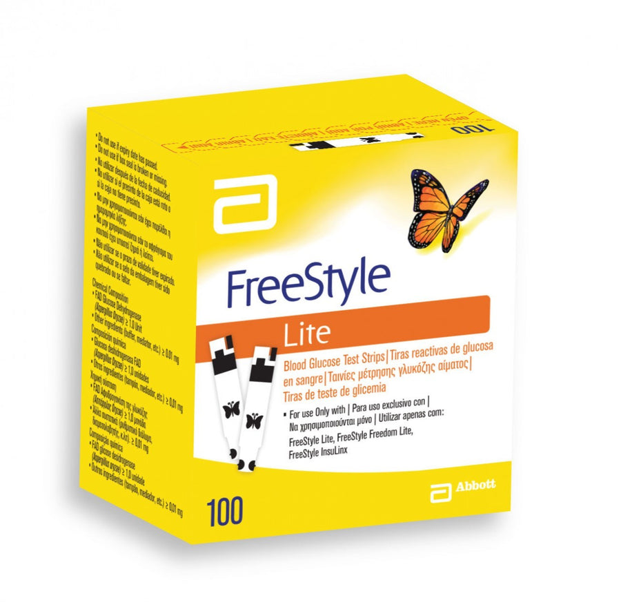 Freestyle Lite Test Strips 100 Count Box