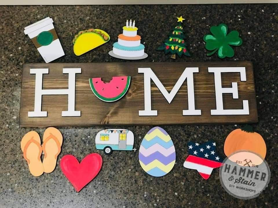 Hammer @ Home Interchangeable Home Sign (Atlantic Beach)