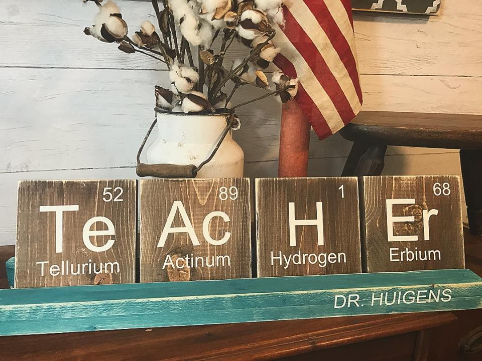 05/08/2018 (6:00pm) Teacher AppreciationScrabble Tile Name Sign (Atlantic Beach)