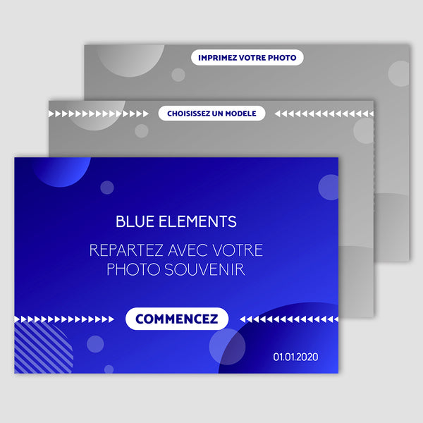 Blue elements - Photobooth 10x15