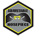 Crossfire Es4 safety glasses feature adjustable nose pieces