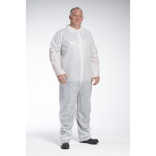 West Chester 3400 PE Laminate White Poly/PE/Poly Coverall Case 25