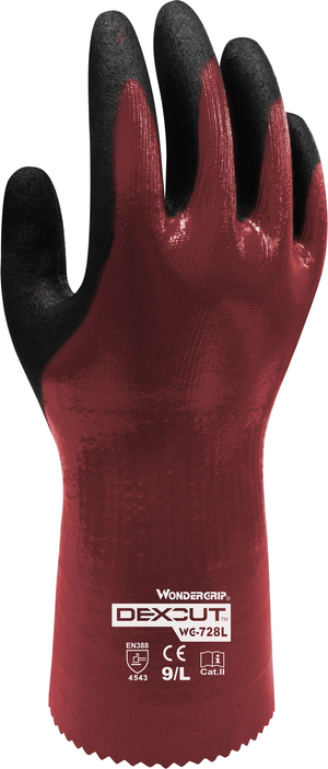 WG-728L Dexcut  nitrile full coated anti-cut, Work Gloves, Dozen (12 pairs)