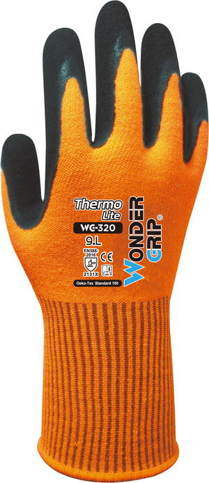 Wonder Grip WG-320G Thermo Lite Cold Weather Work Gloves, Dozen (12 pairs)