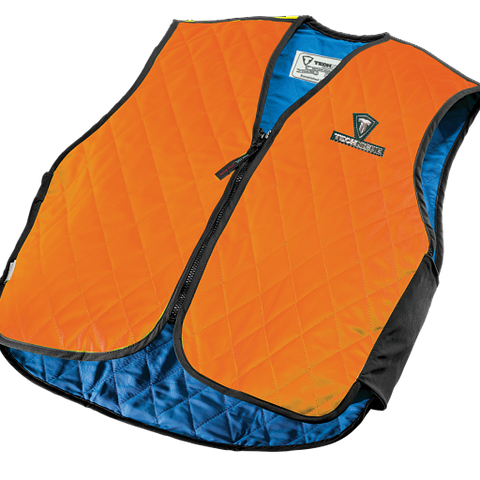 TechNiche 6529-HV-FR Evaporative Cooling Fire Resistant Vest, HyperKewl, Orange