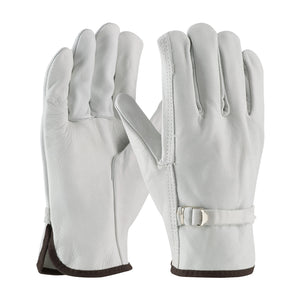 68-153-Regular Grade Top Grain Cowhide Leather Drivers Glove with Pull Strap Closure - Straight Thumb, Dozen (12 pairs)