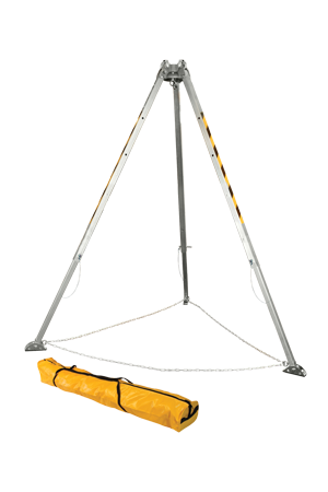 8' Adjustable Aluminum Tripod; Two Integral Head Mounted Pulleys; Click-lock Adjustment Pins; storage bag