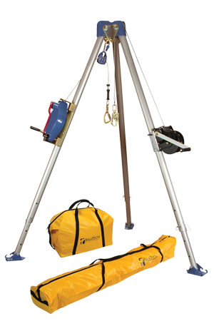 Tripod Kit with 7275 Tripod; 7285 3-Way SRL; 7290 Winch; 7421 Pulley; 8450 Carabi ner; NL7280 and NL7282 Storage Bags