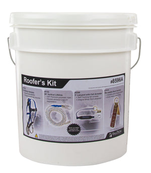 FallTech 8596A Premium Roofer's Kit with Anti-panic Fall Arrester