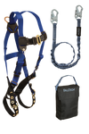 Back D-ring , Tongue Buckles and 6' Internal Lanyard and Gear Bag