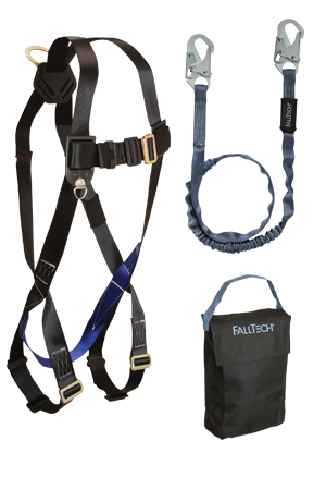 3pt Adjustab le, Back D-ring, Mating Buckles, 6' Internal Lanyard and Gear Bag