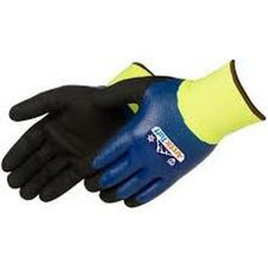 ARCTIC TUFF™ BLUE NITRILE THERMAL SHELL WITH LINING (HI-VIS GREEN) F4784LG 12/PR