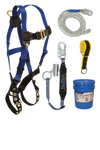 7016 Harness; 8150 Vertical Lifeline, 8368 Shock Absorbing Lanyard with Trailing Grab; 7372 Pass- through Sling Anchor