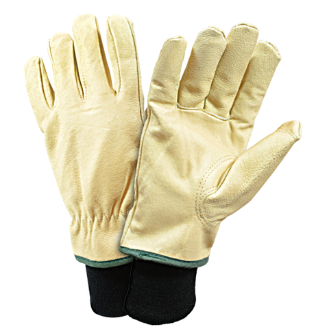 LEATHER GLOVE, DRIVER, -994KW, PREMIUM PIGSKIN, THERMAL LINED, KNIT WRIST, KEYSTONE THUMB, 12PK - Free Shipping on $50 orders
