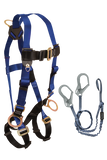 Back and Side D-rings , Mating Buckles, 5pt, 6' Looped Y-Leg Internal with Rebar Hooks