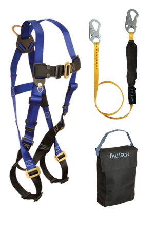 Back D-ring, Mating Buckles, 6' SoftPack Lanyard and Gear Bag