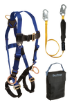 Back and Side D-rings, Mating Buckles, 6' SoftPack Lanyard and Gear Bag