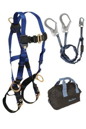 Back and Side D-rings , Tongue Buckles, 6' Internal Y-Leg, Rebar, and Gear Bag