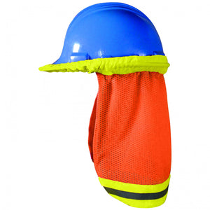 OK-1 5057009 High Visibility Mesh Hard Hat Shade - Yellow/Orange (Pack of 6)
