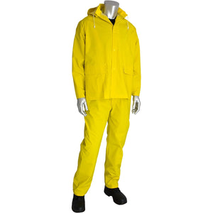 PIP 201-370 Falcon  3-Piece Rainsuit - .35mm Thickness Detachable Hood - Yellow