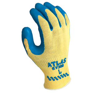 SHOWA® ATLAS® - KV300 Blue latex dipped palm (12 pairs)