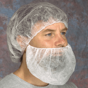 "Beard Covers - West Chester UBC 18"" SBP Beard Cover - ""latex Free Elastic"" 12 Gram Poly Pro Material"