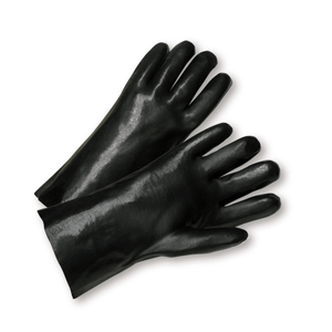 "Chemical Gloves - West Chester 1017 10"" PVC Chemical Glove, Smooth, 12 Pair"