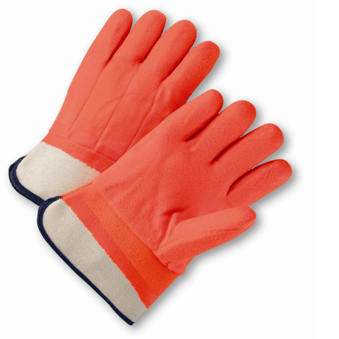 Chemical Gloves - West Chester 1017ORF, PVC Chemical Glove, , Rough Finish ,Orange, 12 Pair