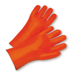"Chemical Gloves - West Chester 1027OR 12"" PVC Chemical Glove, Foam Lined, Orange, 12 Pair"