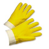 Chemical Gloves - West Chester J1017ybt, PVC Chemical Glove, Bandtop, Yellow, 12 Pair