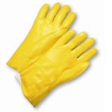 "Chemical Gloves - West Chester J1027ry 12"" Yellow  PVC Glove, Semi-Rough, Jersey Lined, 12 Pair"