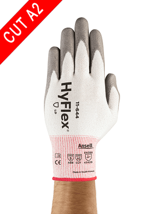 Coated Gloves - Ansell HyFlex 11-644,12 Pair, PU Coated, A2 Cut Resistant Gloves