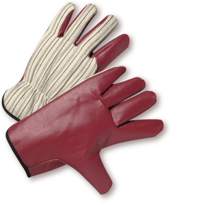 Coated Gloves - Leather Glove, Driver, 2000, Driver Style, Nitrile Palm, Jersey Lined, 12 Pair